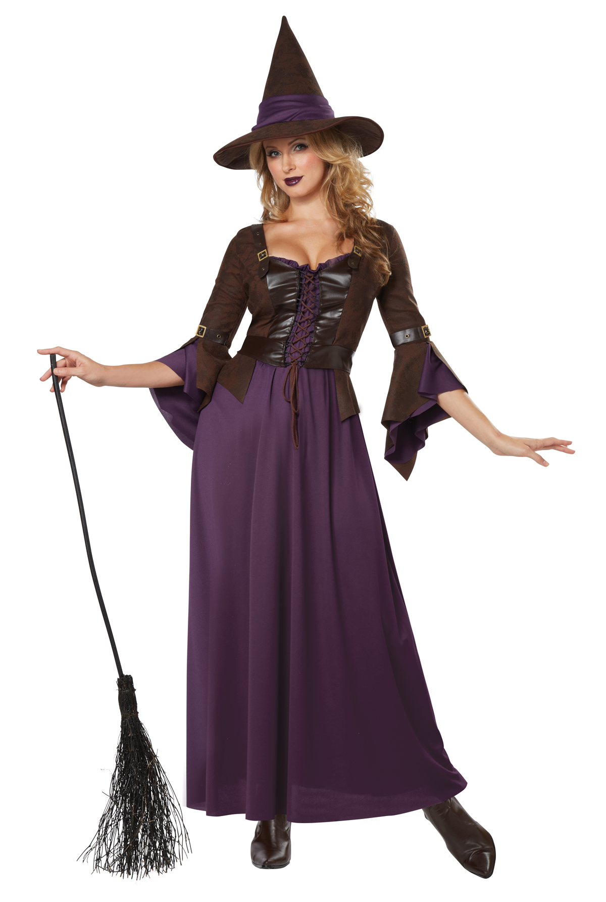 womens salem witch halloween costume cosplay full complete set dress vest hat - Salem Witch Halloween Costume