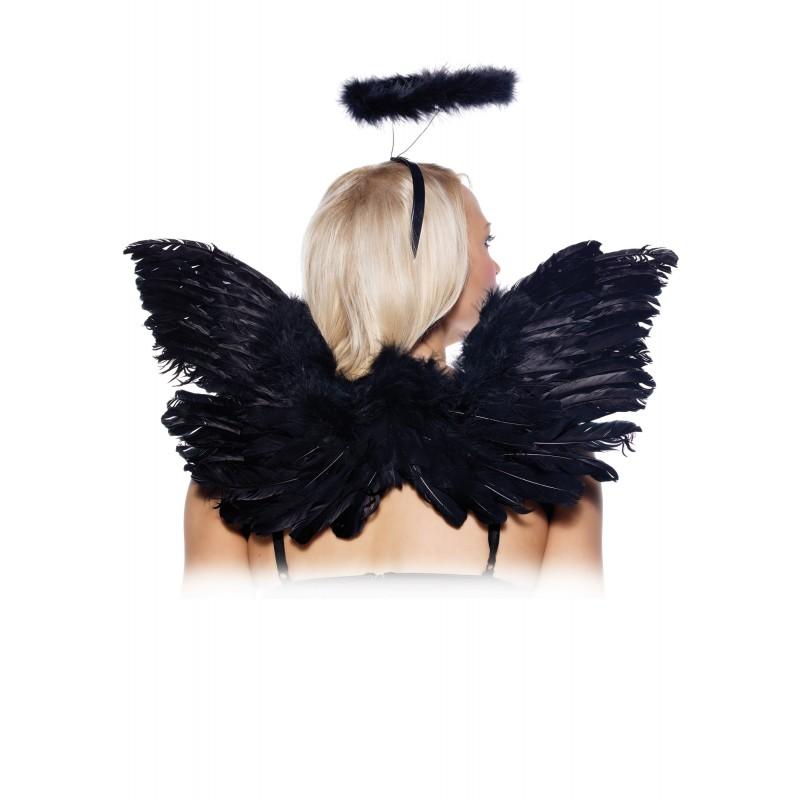sexy angel accessory kit halloween costume cosplay good bad dark halo wings - Halloween Halo