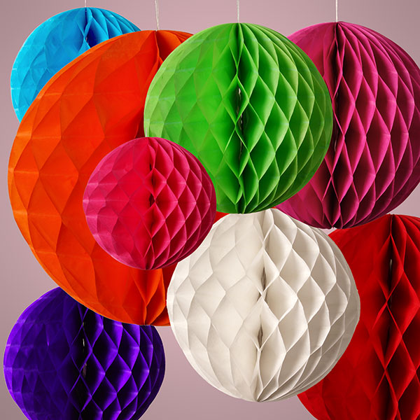 Paper Decoration Balls: Tissue Paper Honeycomb Ball Lantern Pom Pom Wedding Party