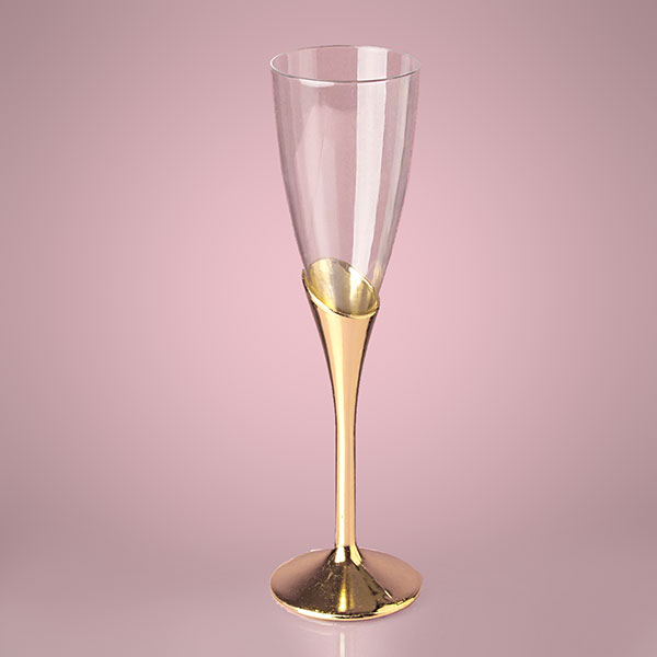 plastic champagne wine flutes wedding party glasses disposable or reusable color