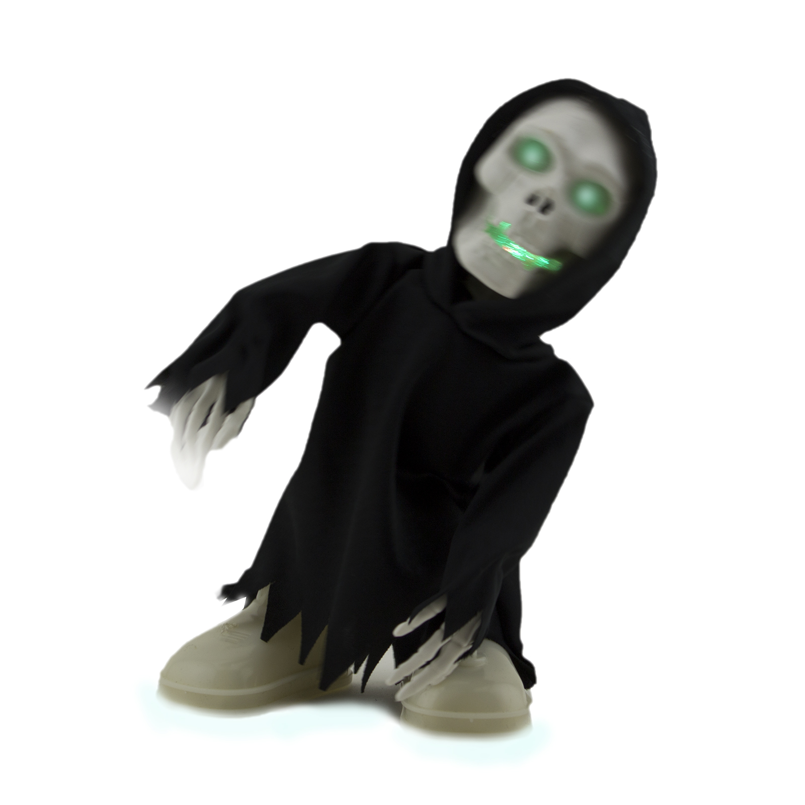 walking talking light up grim reaper animated skeleton halloween decoration eyes - Reaper Halloween