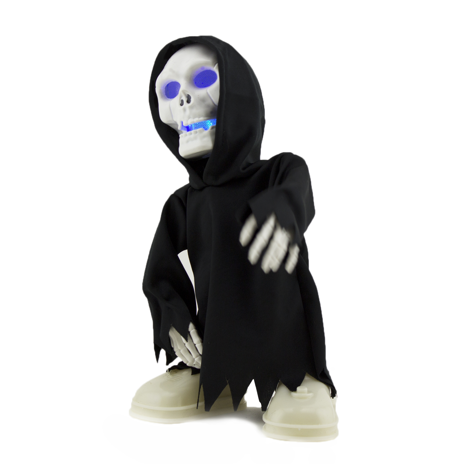walking talking light up grim reaper animated skeleton halloween decoration eyes - Animated Halloween Decorations