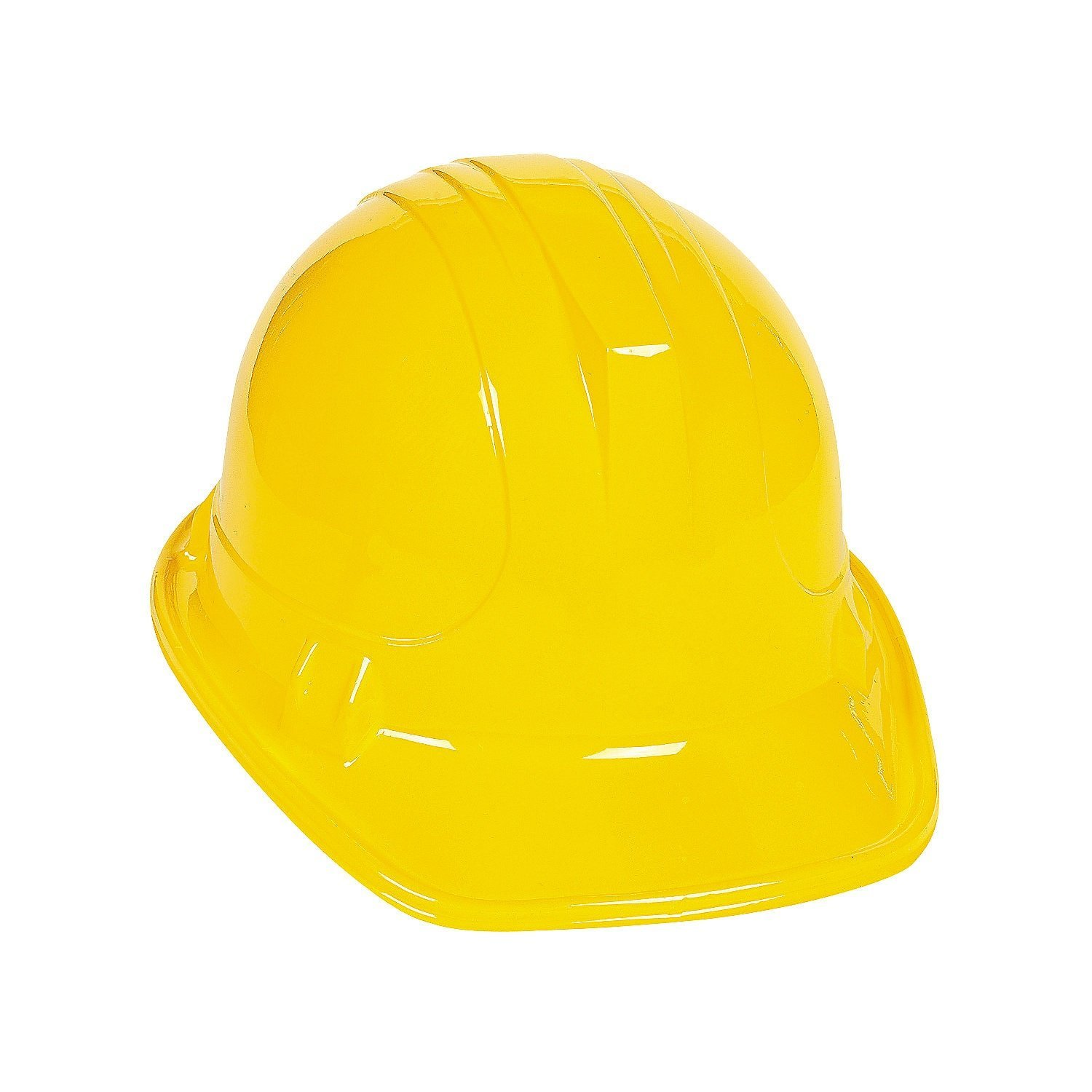 Yellow Construction Hard Hat Plastic Cap Costume Birthday Party ...