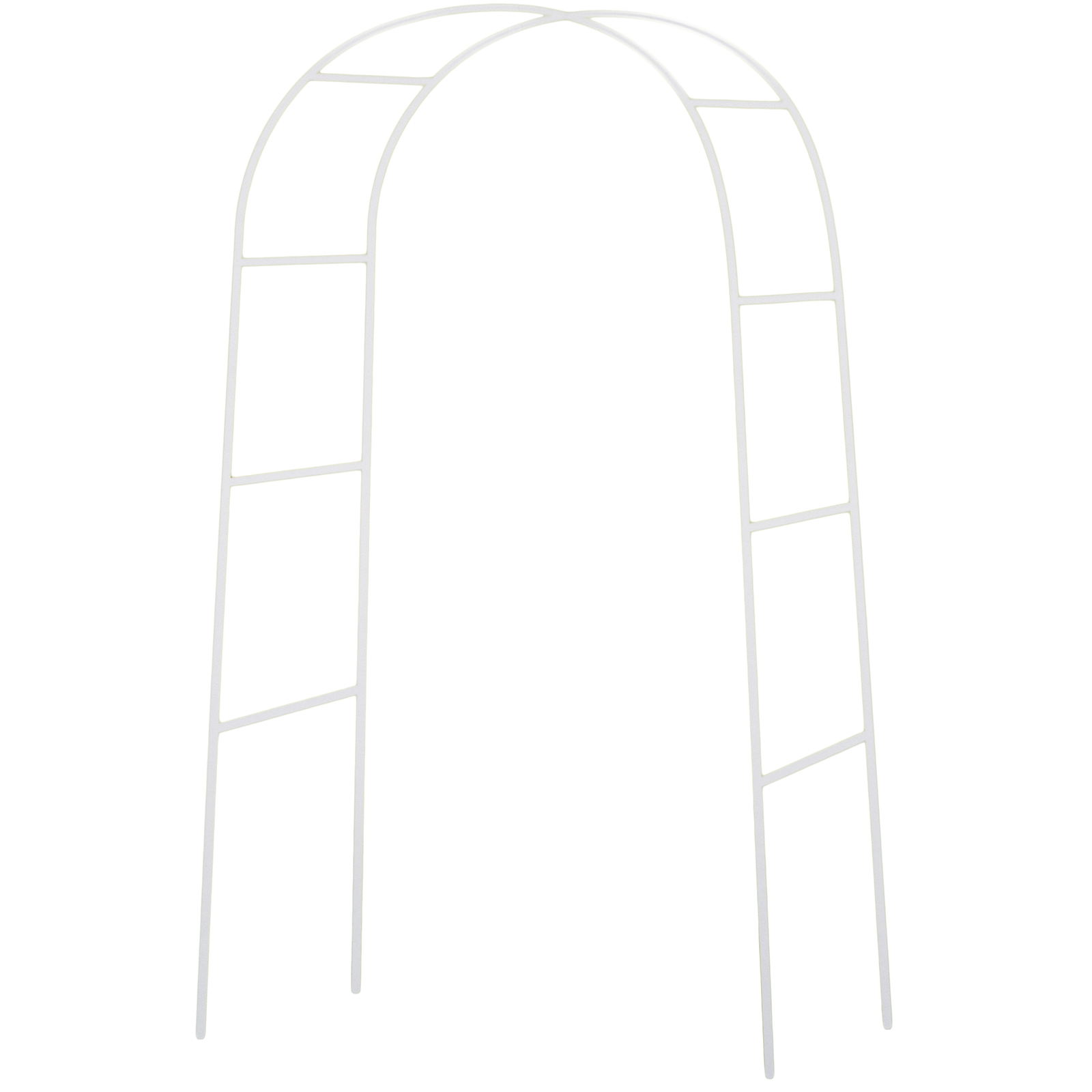 7.5 Ft White Metal Arch Wedding Garden Bridal Party Decoration