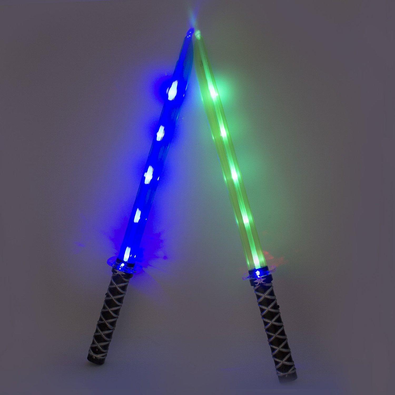 Ninja Light Up LED Sword Sticks Sounds Halloween Costume
