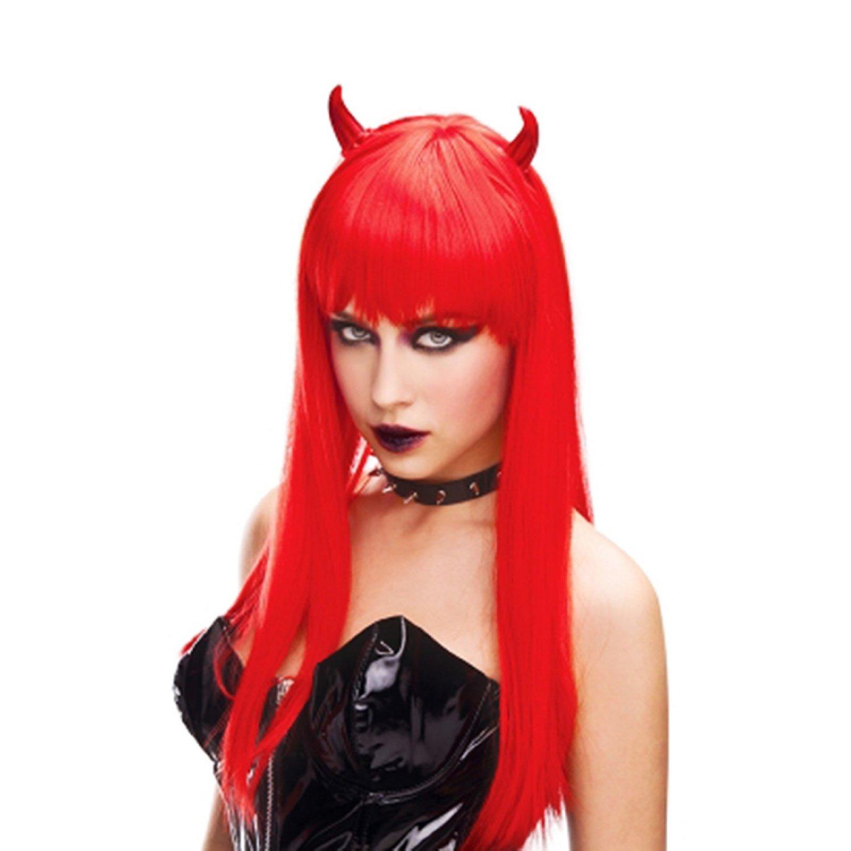 red horn devil womans wig demon fire angel halloween costume prop - Devil Horns For Halloween