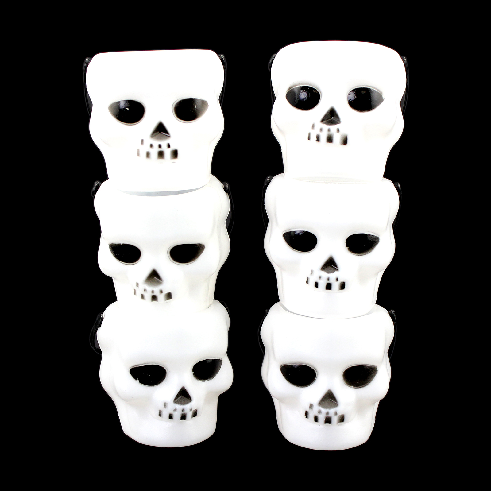 halloween mini white plastic skull candy buckets 6pc - Halloween Skulls Pictures