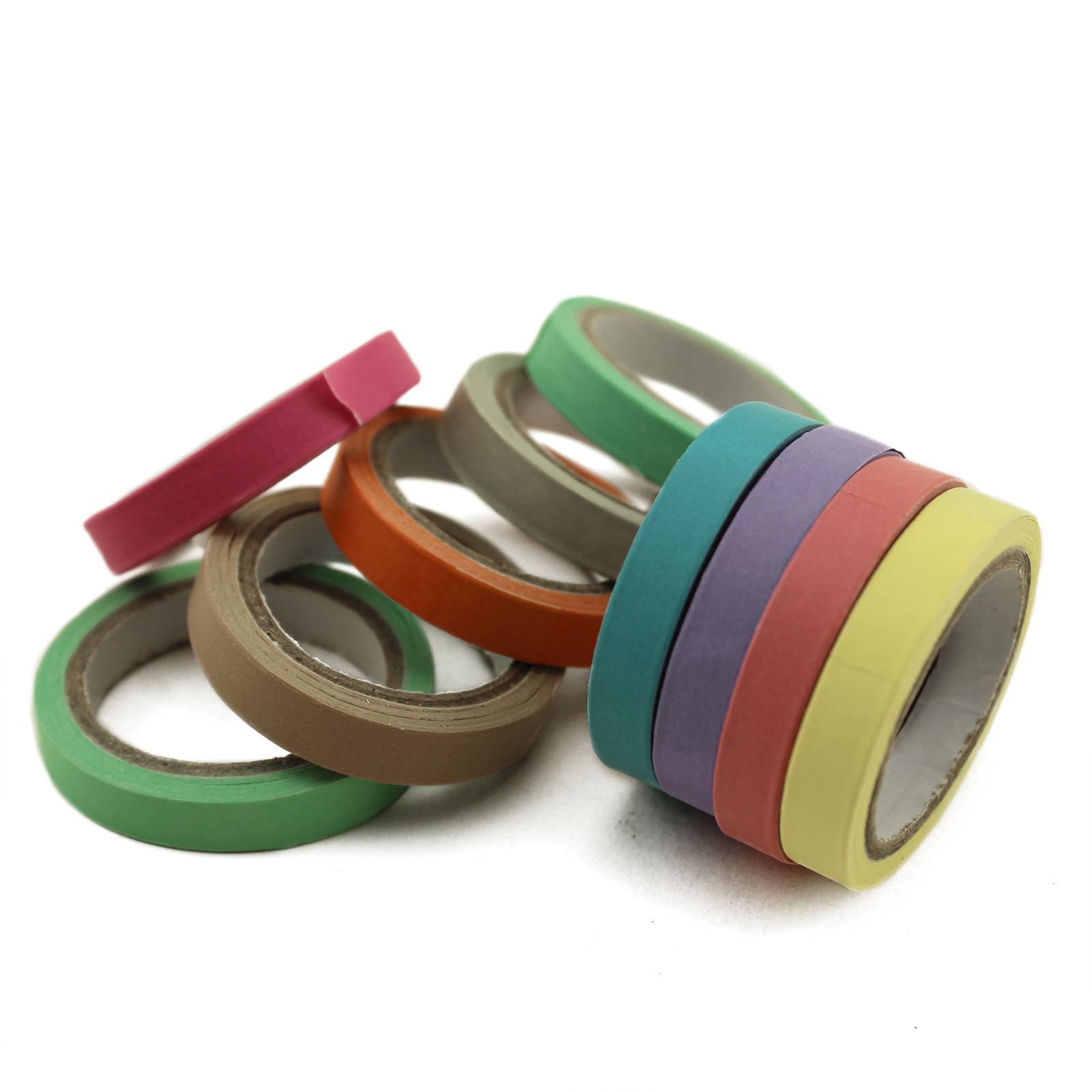 10x Decorative Washi Pastel Rainbowsthin Masking Tape