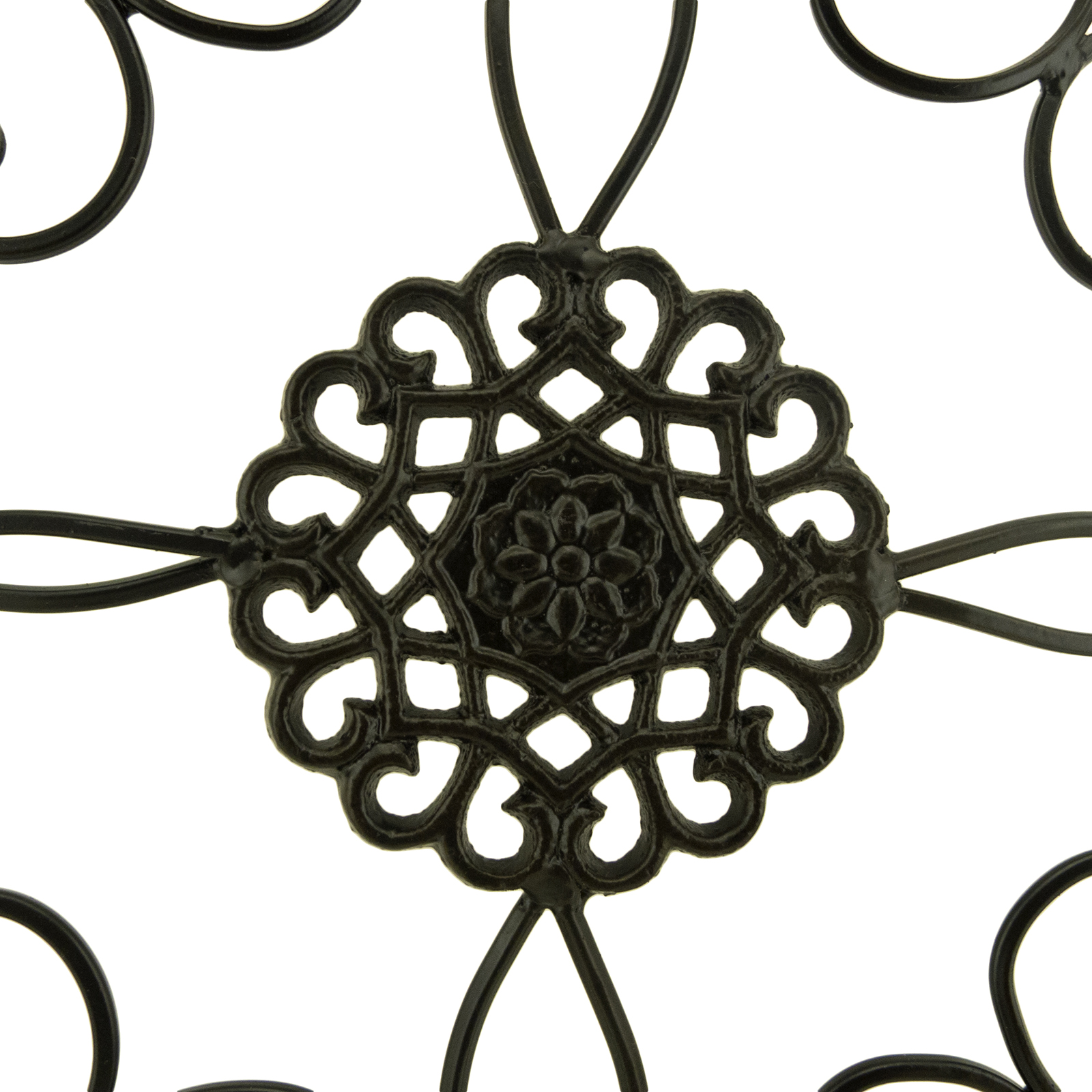 Wall medallion decor square scrolled metal art home living for Dining room metal wall art