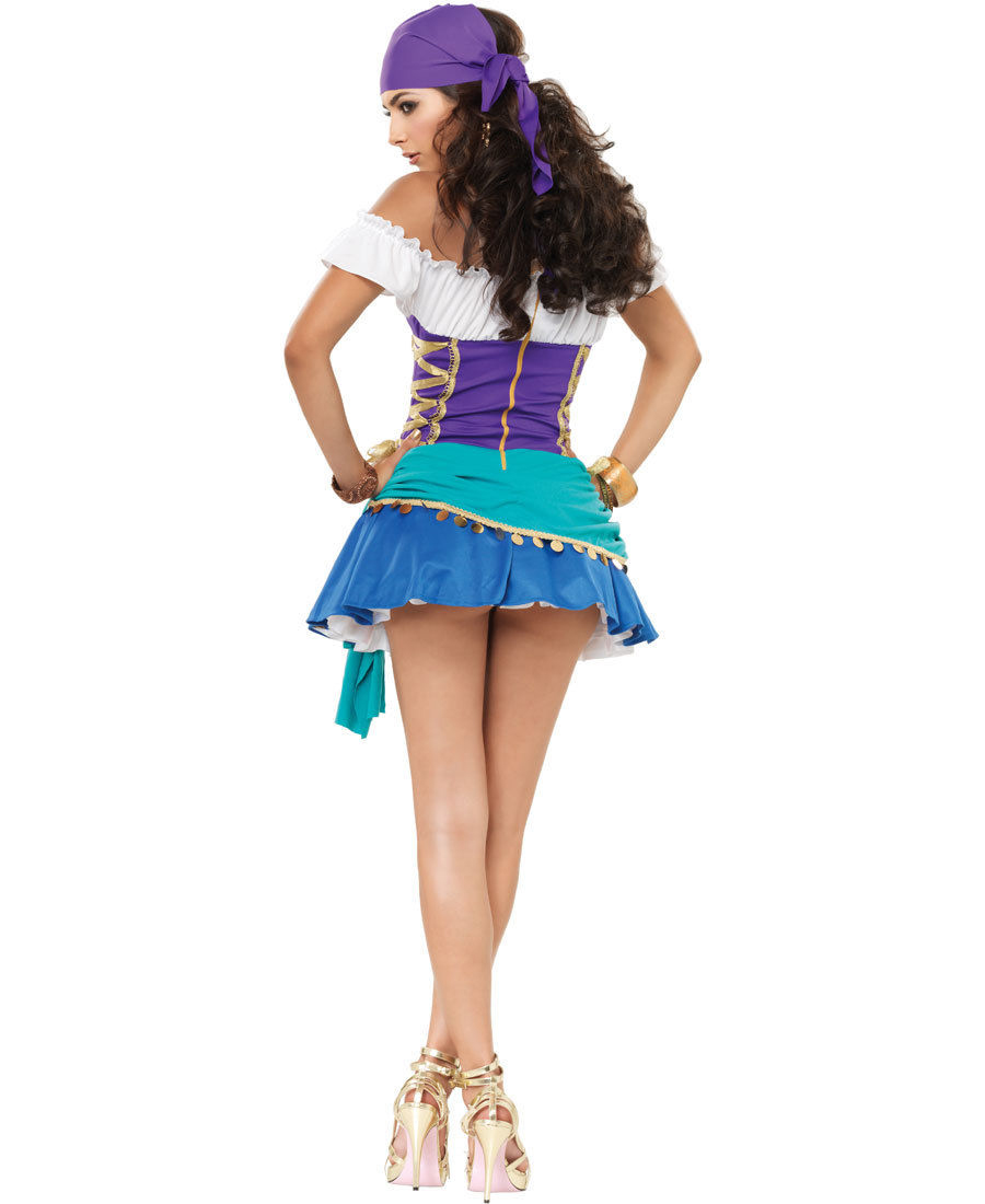 women 39 s halloween adult costume party gypsy princess esmeralda fortune teller ebay. Black Bedroom Furniture Sets. Home Design Ideas