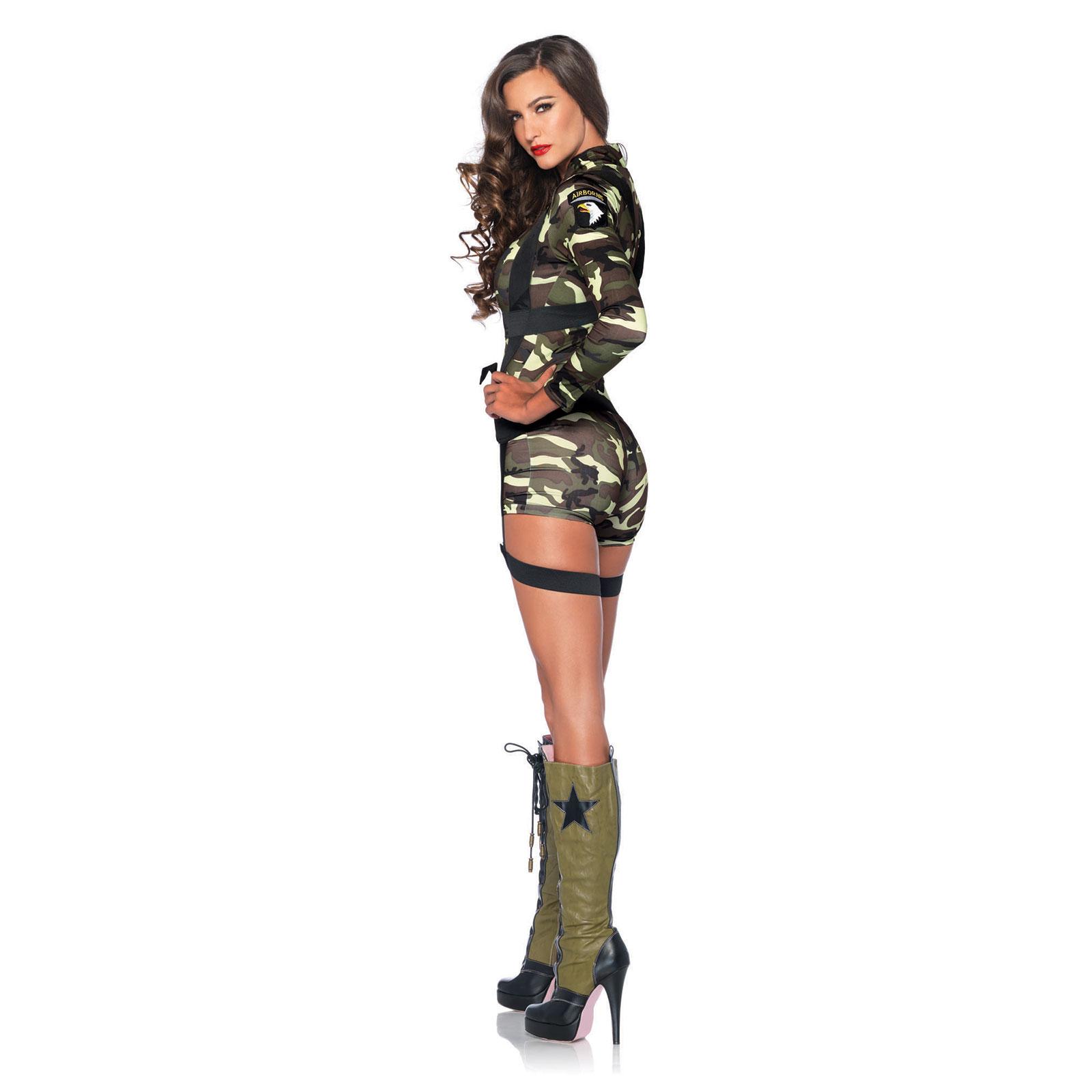 Women\'s Goin Commando Army Camouflage Halloween Costume Romper ...
