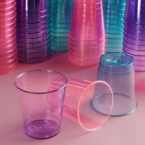Blue Plastic Shot Glasses