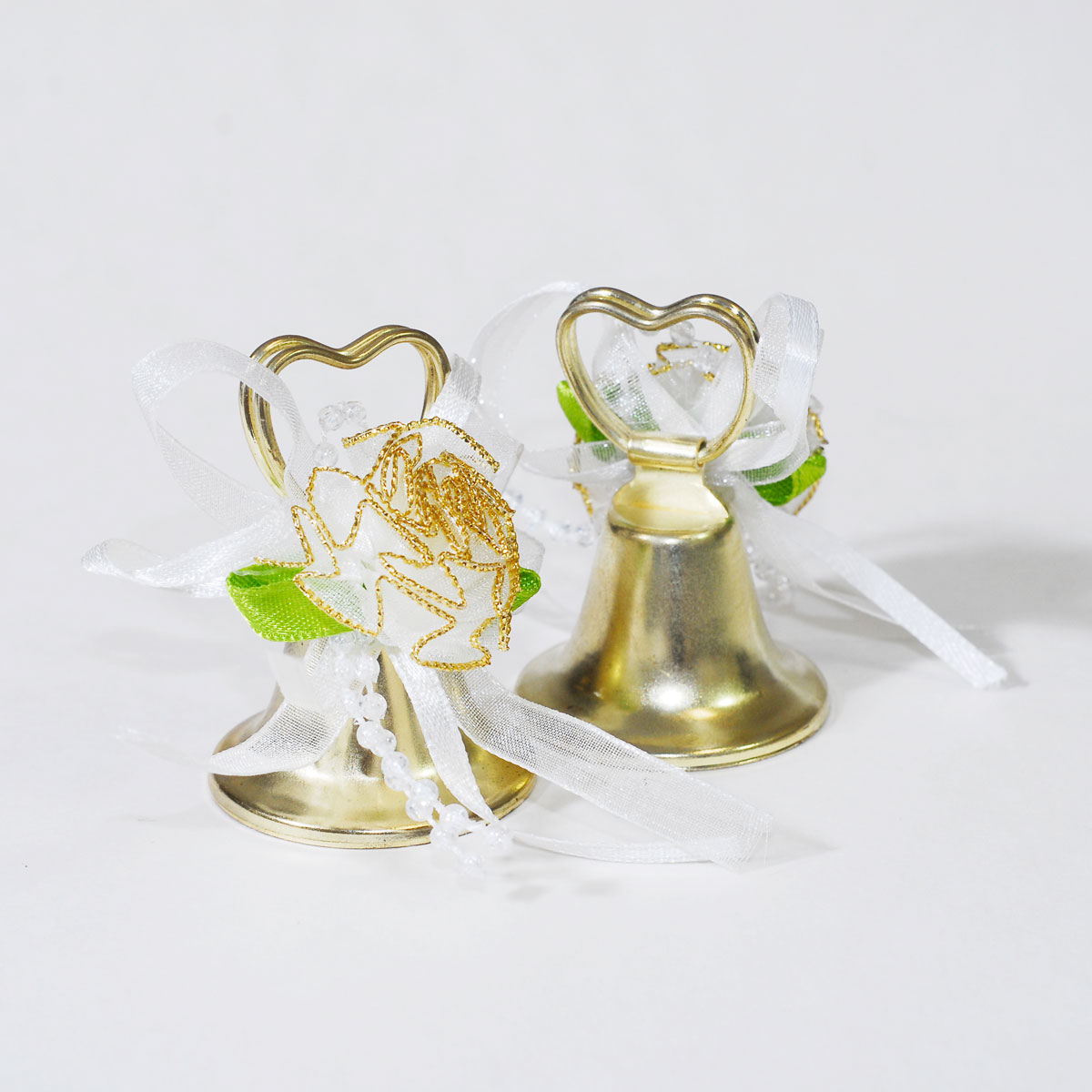 24pcs GOLD heart Shaped wedding bells reception marriage ...