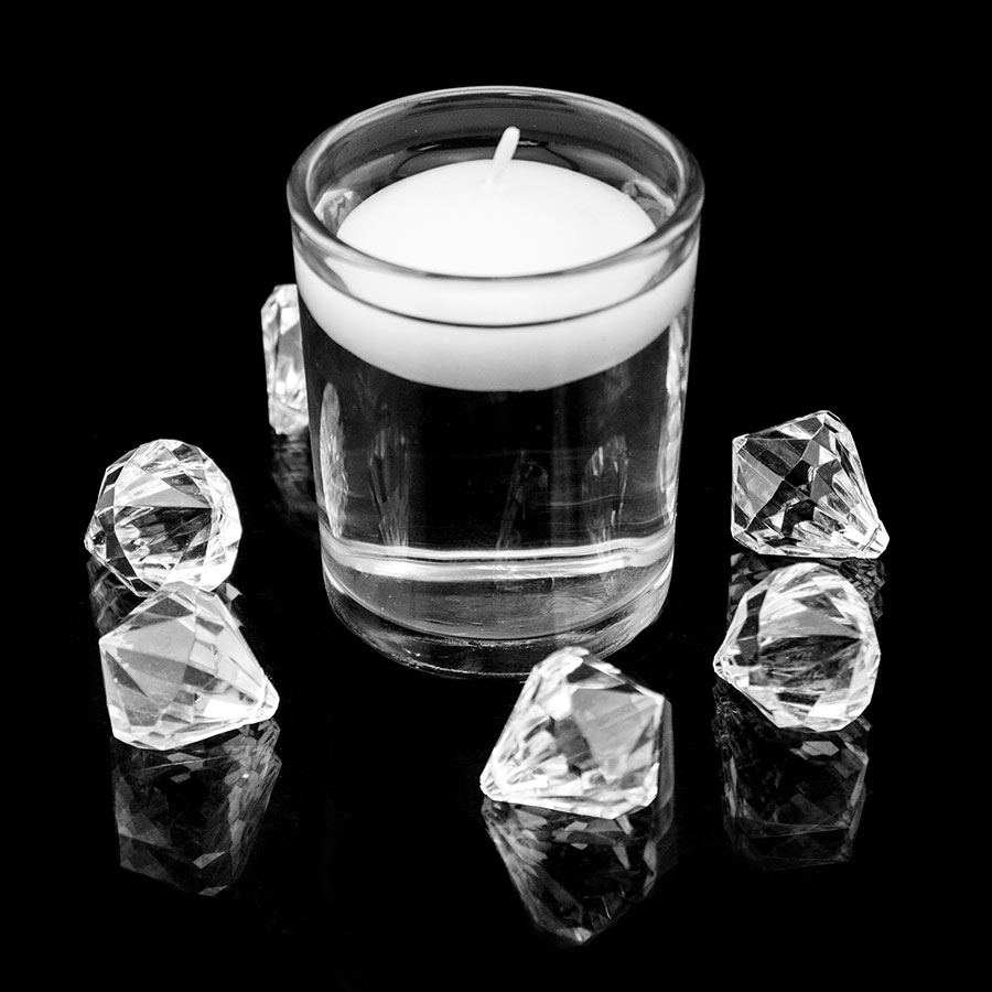 clear glass votive candle holders fits tea light floating candles home decor ebay. Black Bedroom Furniture Sets. Home Design Ideas