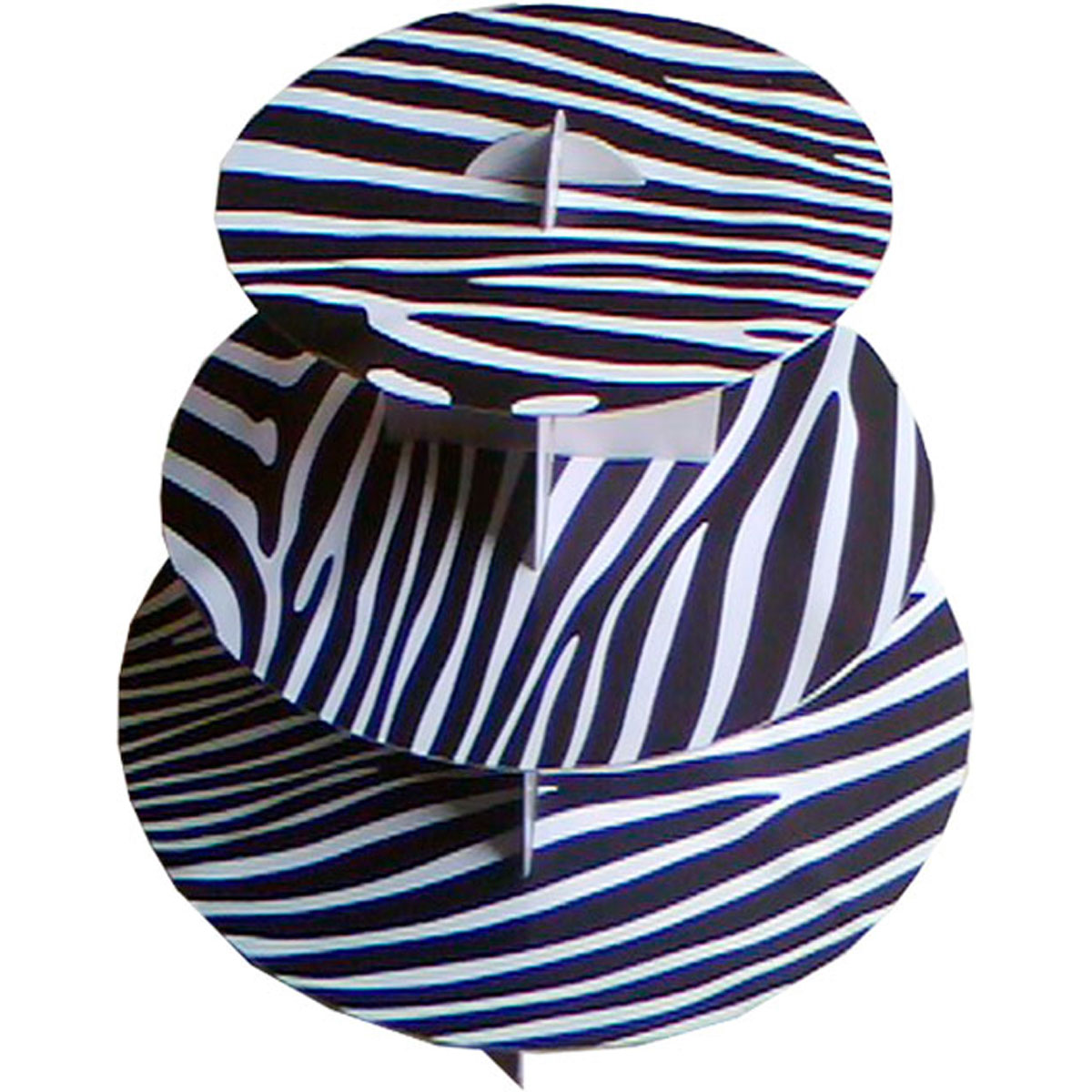 12 cupcake stand 3 tier cupcaketree zebra party favor wedding baby shower 1pc ebay. Black Bedroom Furniture Sets. Home Design Ideas