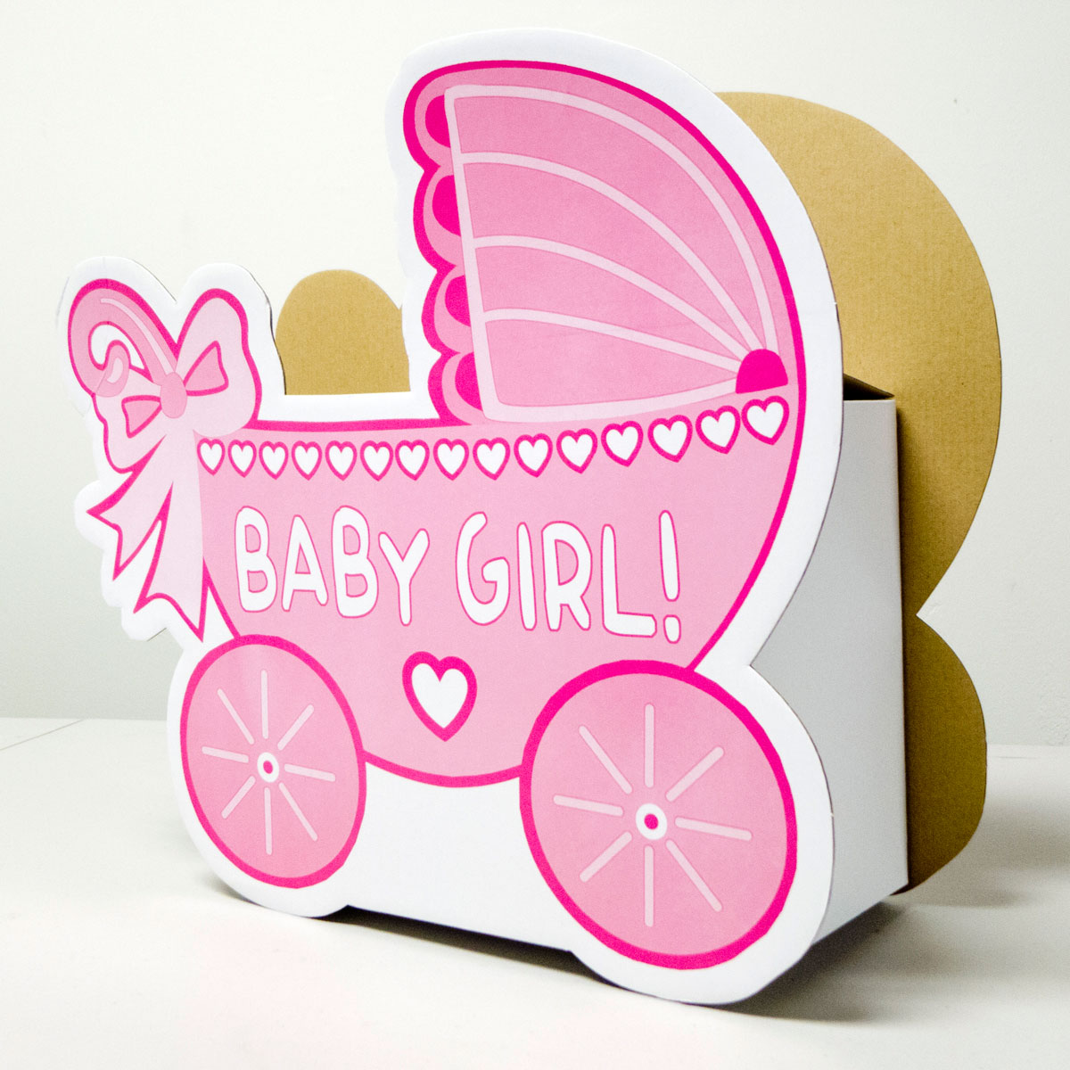 Baby Shower Wishing Well Carriage Box