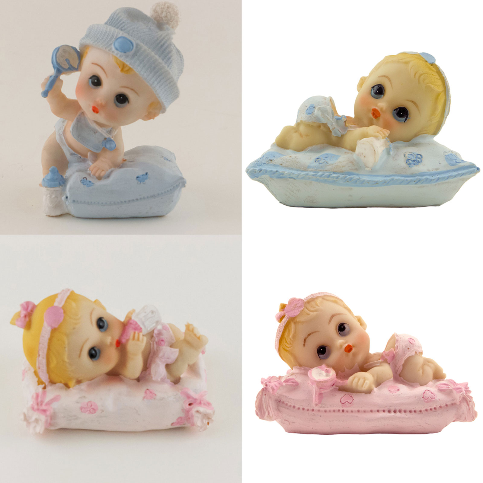 baby shower girl / boy with pillow keepsake figurine decoration, Baby shower