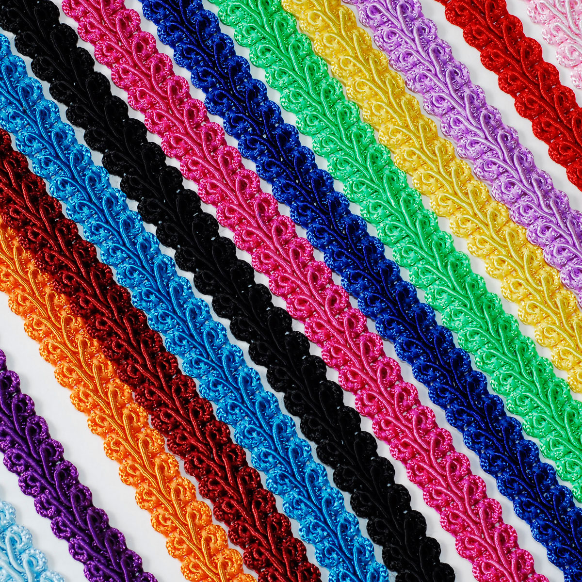 Braided gimp trim ribbon wedding prom party birthday for Craft ribbons and trims