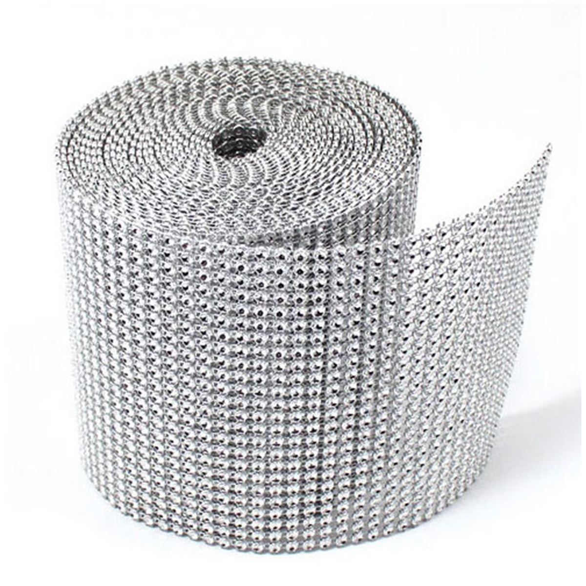 ... Silver Diamond Mesh Wrap Roll Sparkle Rhinestone Crystal Ribbon | eBay