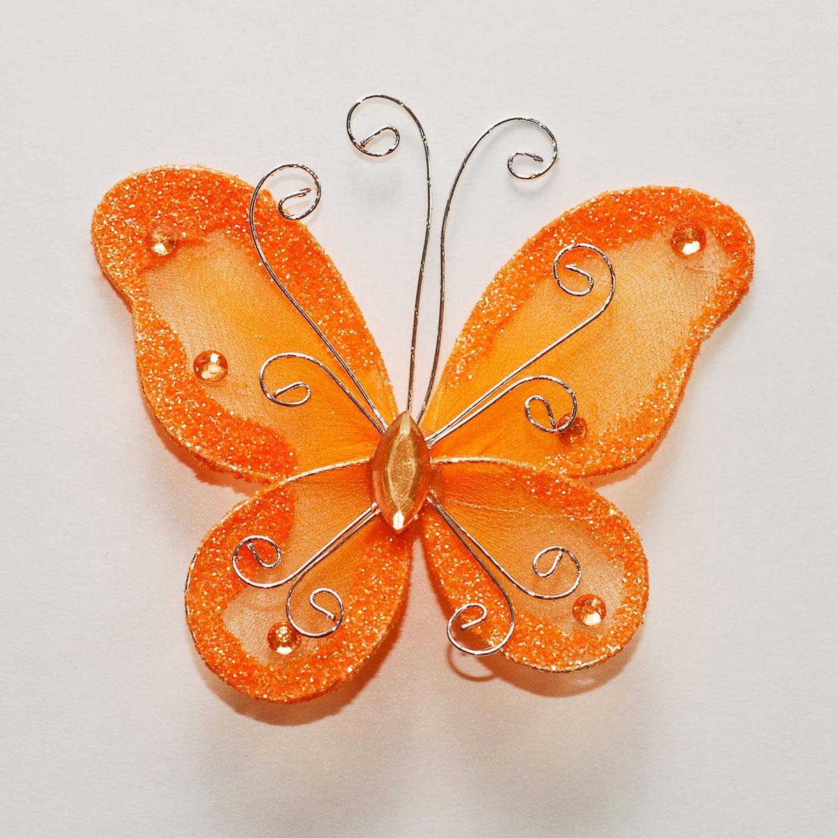 Бабочки из капрона и проволоки мастер класс фото