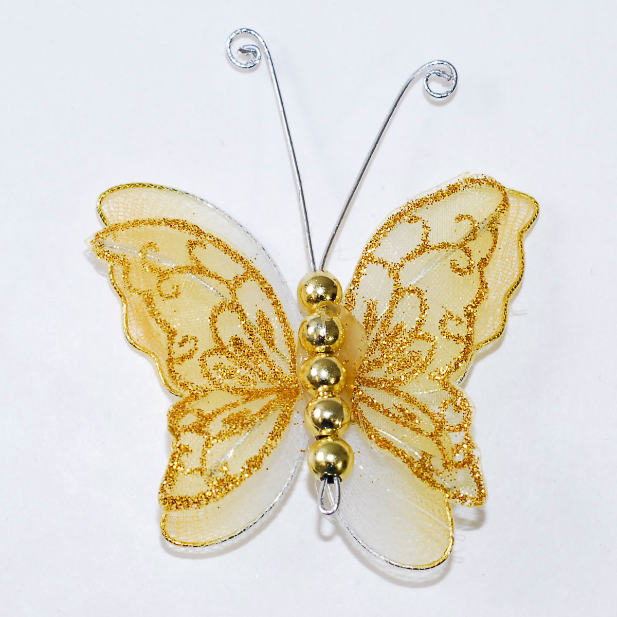 2 Quot Sheer Nylon Crystal Wire Butterfly W Beads Party