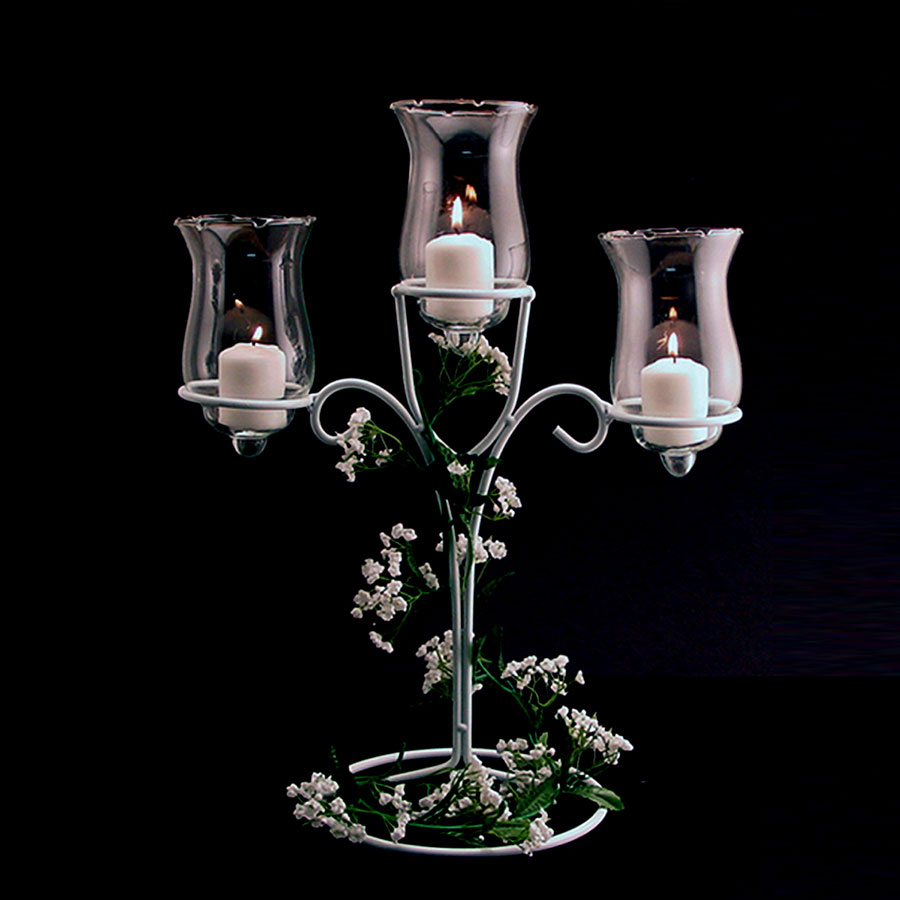 Tier Candle Centerpiece : Ifavor three tier candle holder white wire diy
