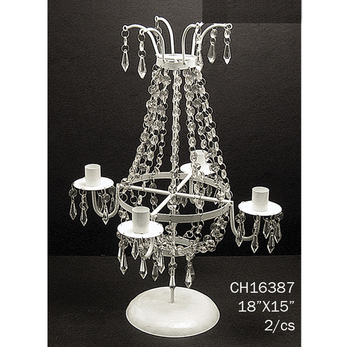 Centerpiece candle holder diy acrylics and white metal