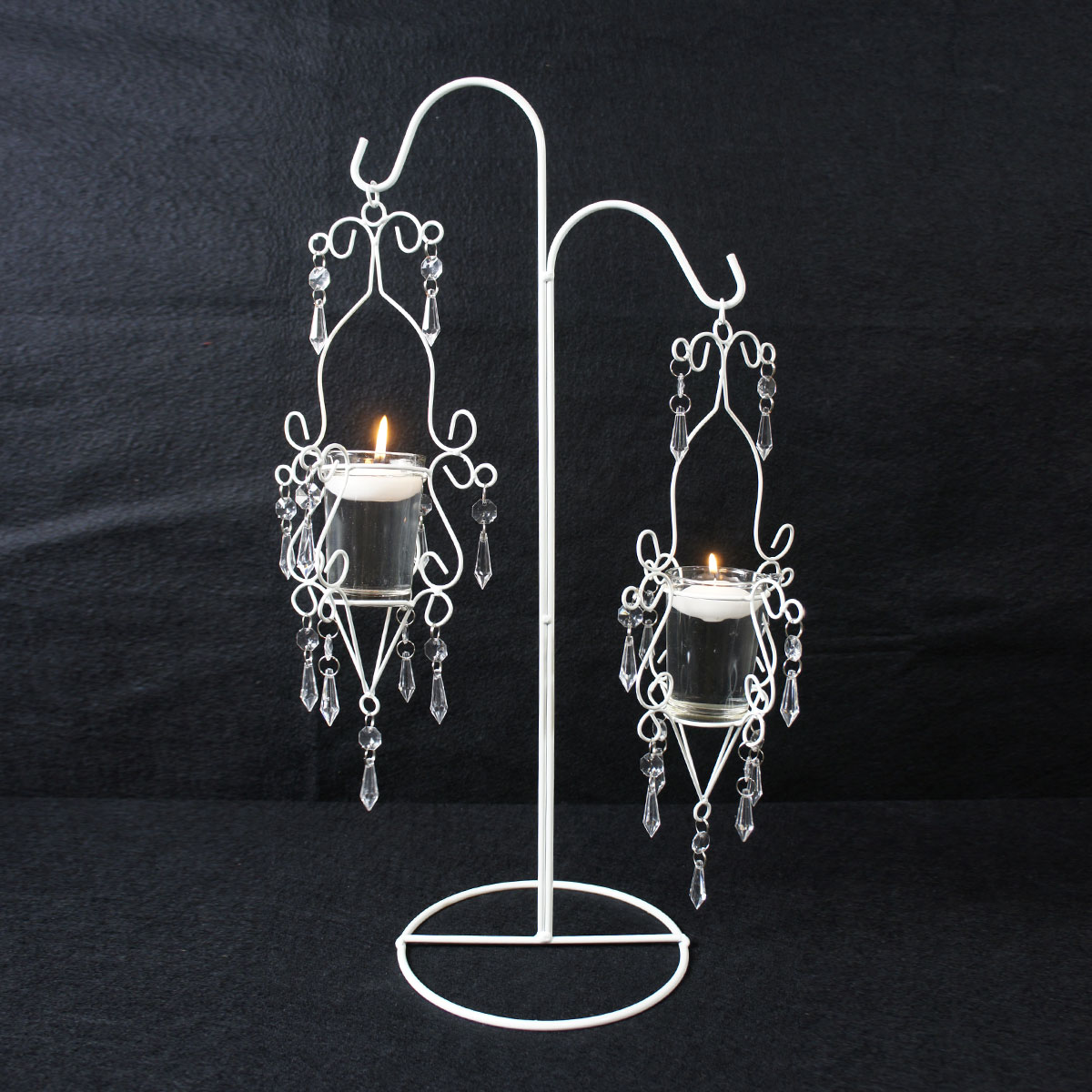 ifavor123.com: Hanging Candle Holder white wire with acrylic bead ...