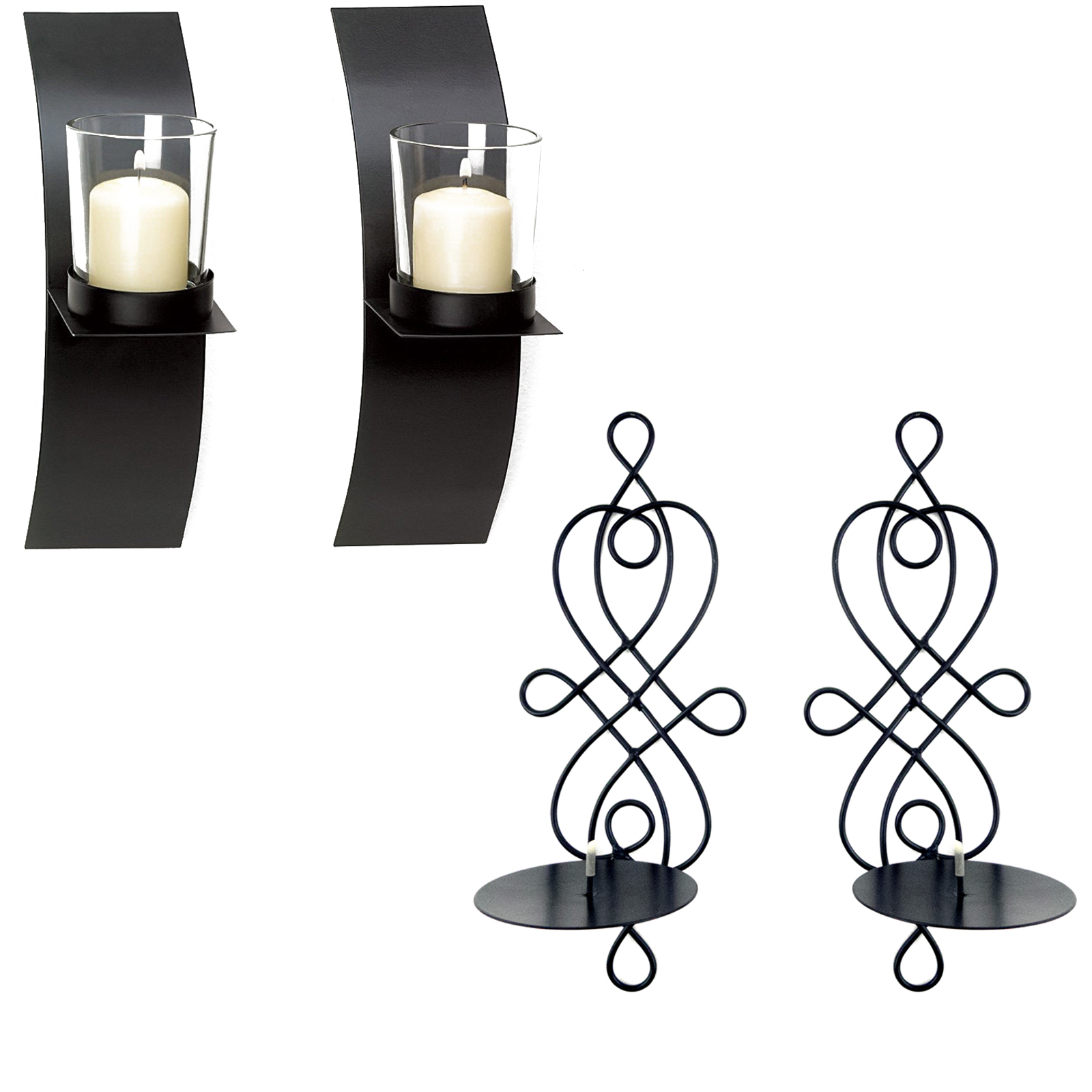 Home decor modern art candle holder wall sconce black wire for All modern accessories