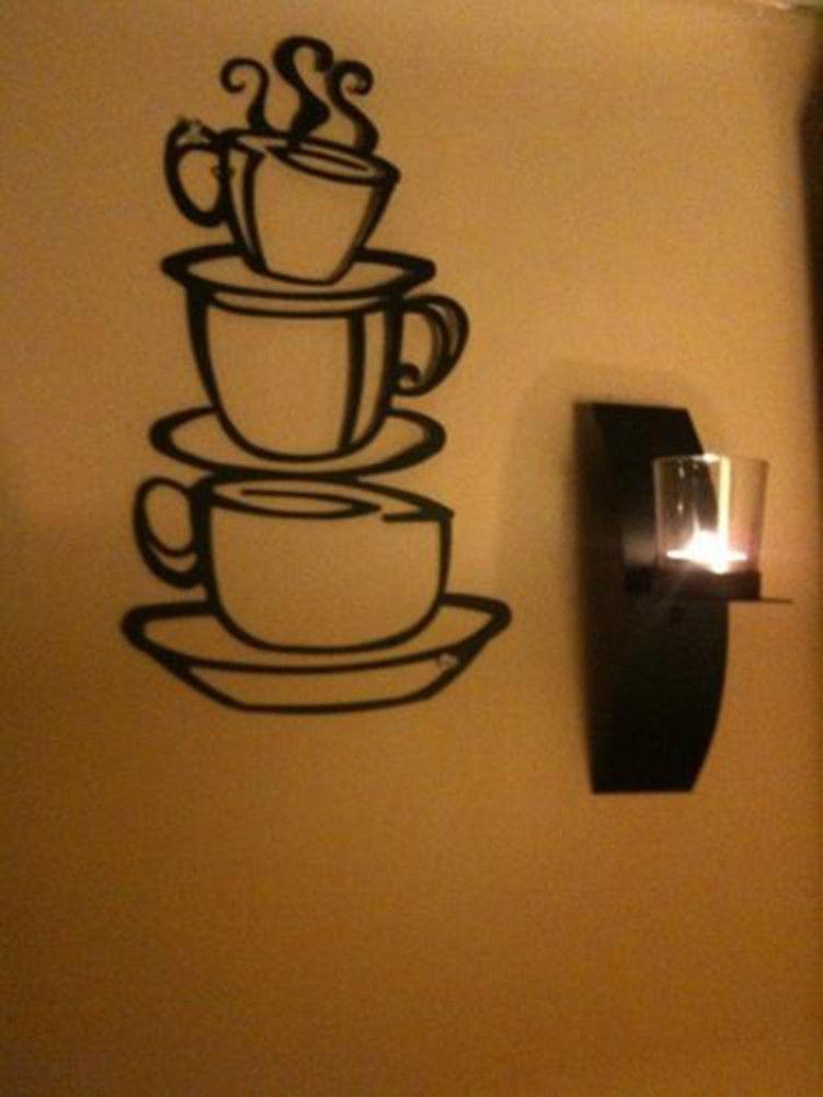 Coffee House Cup Java Silhouette Wall Art Metal Mug ...