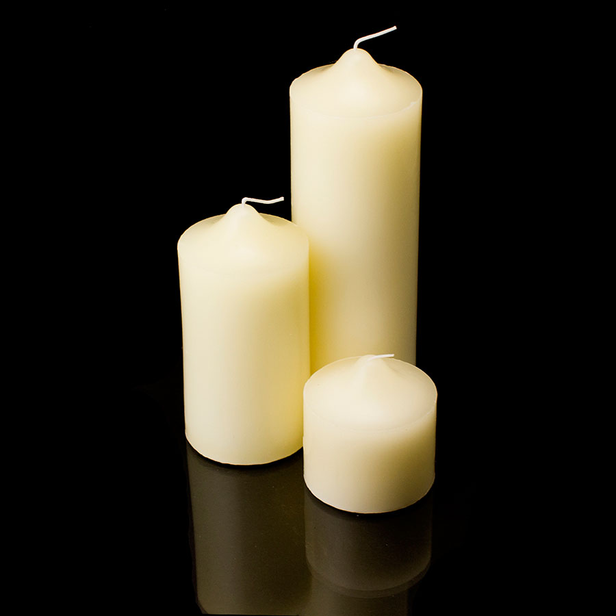 New pillar wax candles candle unscented weddings for Different brands of candles
