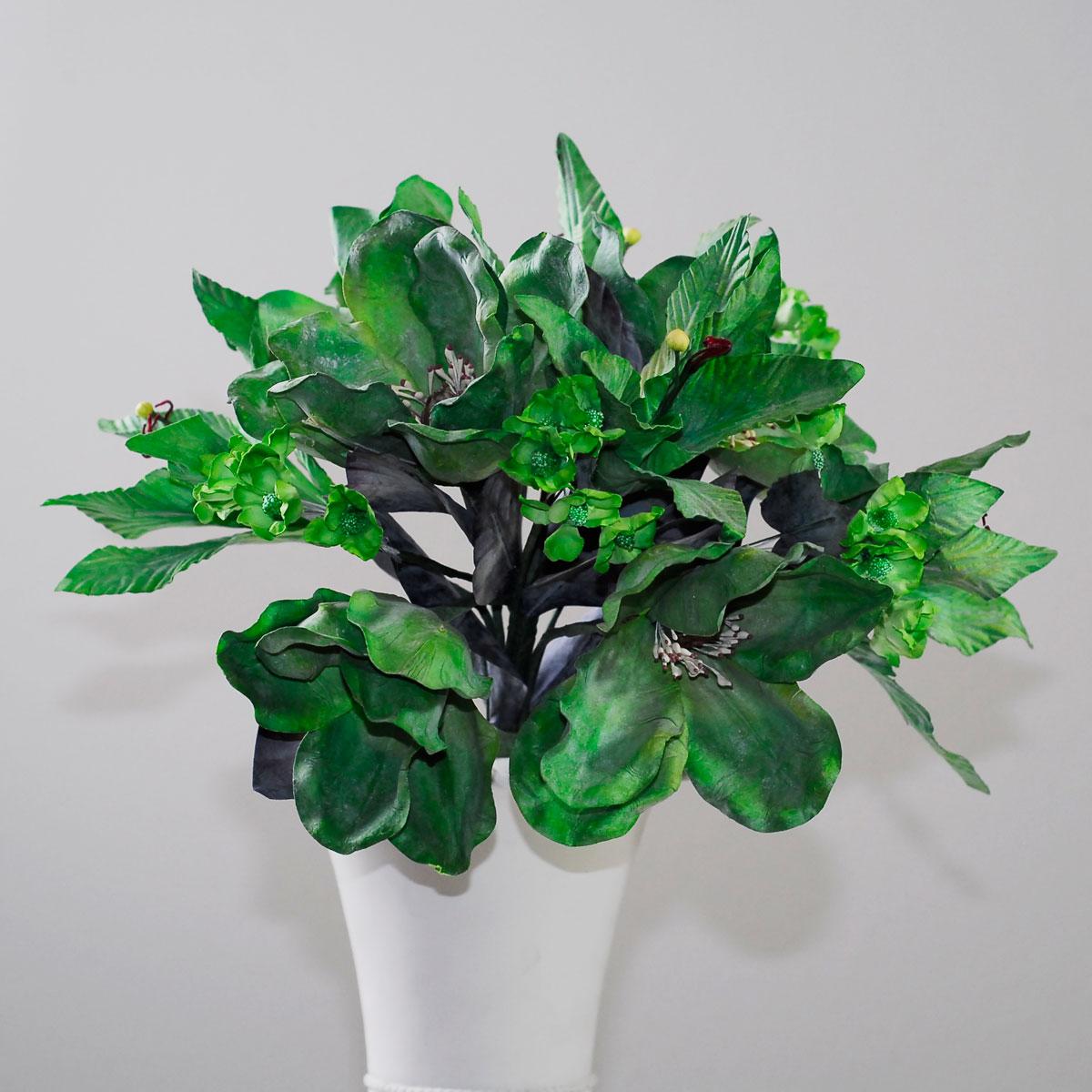 Latex Bouquet Of Magnolia Artificial Flower Centerpiece