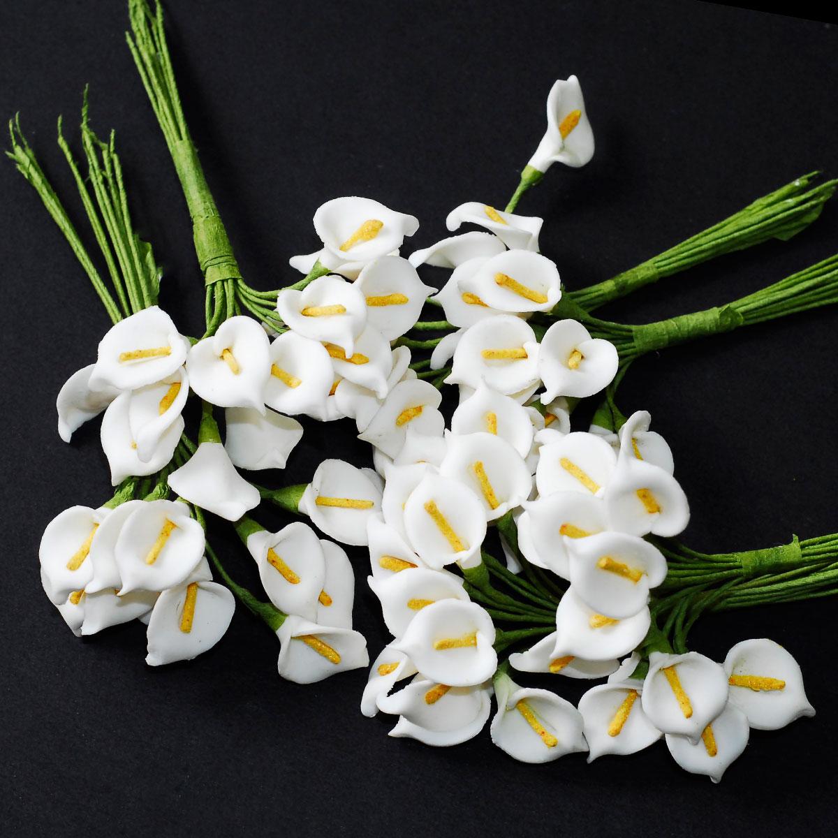 Mini Flower Calla Lily Bouquet Wedding Baby Shower Birthday Party Decoration