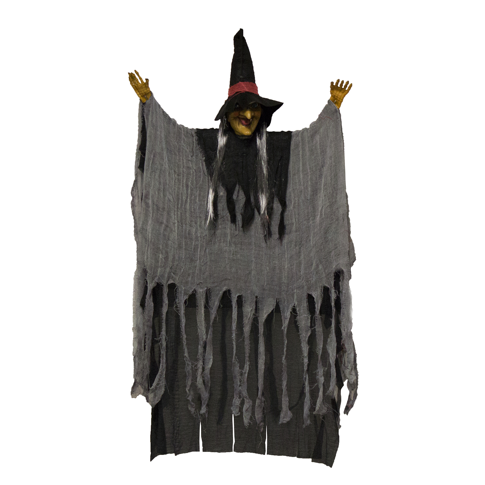 Scary Flashing Howling Light up LED Hanging Witch Figure - Scary Witch Decorations