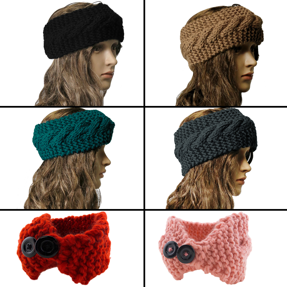 Winter Women Ear Warmer Headwrap Fashion Crochet Headband