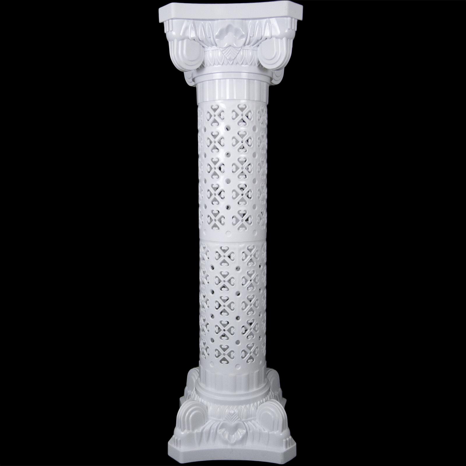 Wedding decorative plastic roman column height adjustable for Decorative column