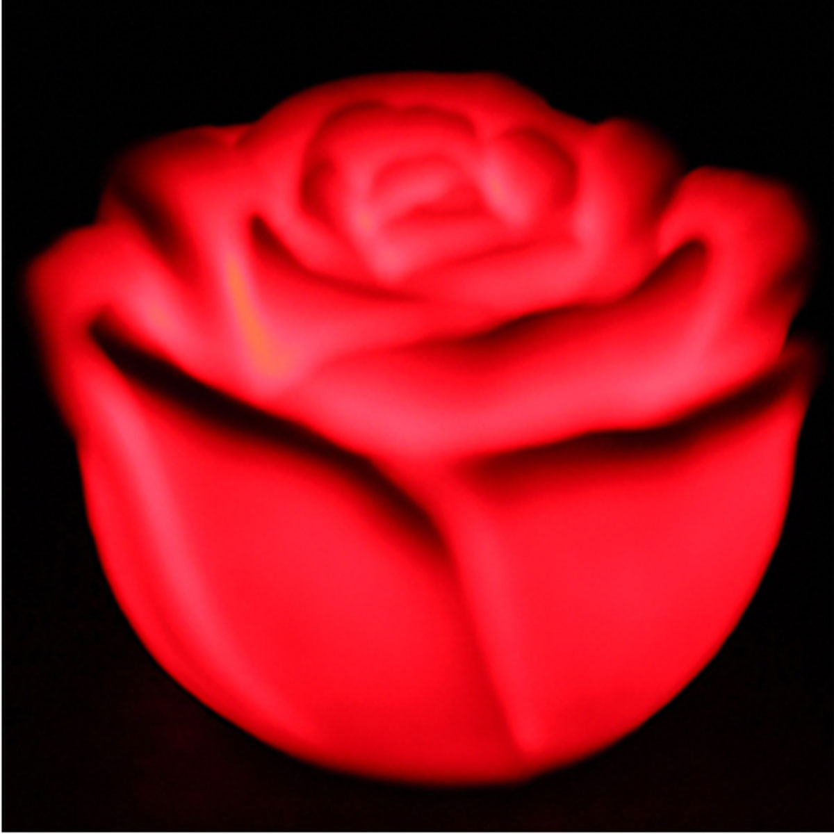 Led 7 color changing rose night light lamp halloween for Color changing roses