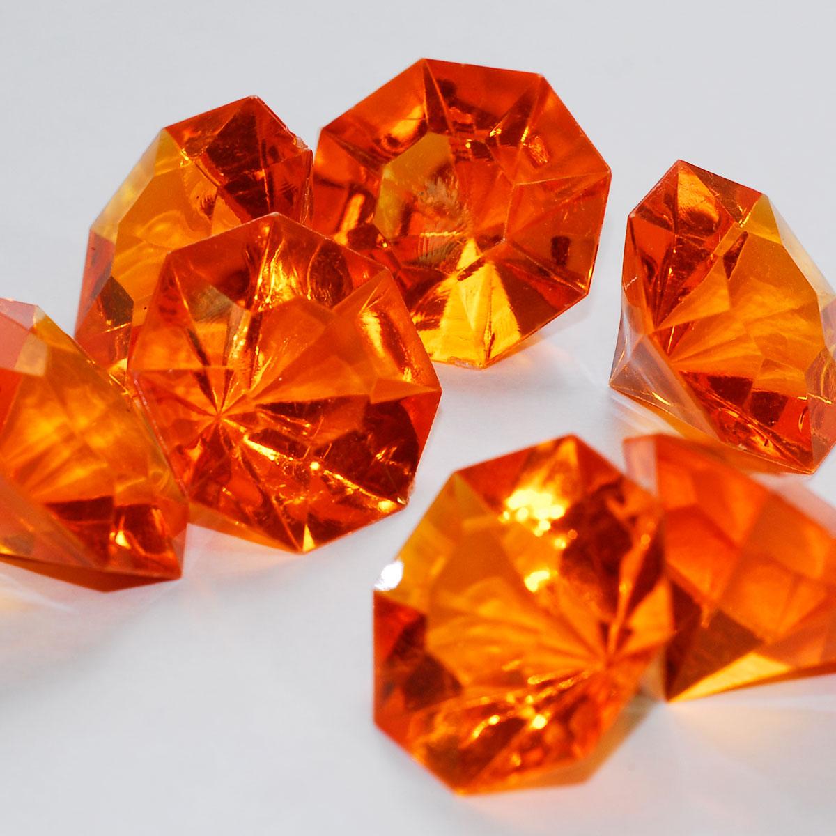 Assorted Pirate Gem Acrylic Flat Diamonds Various Color