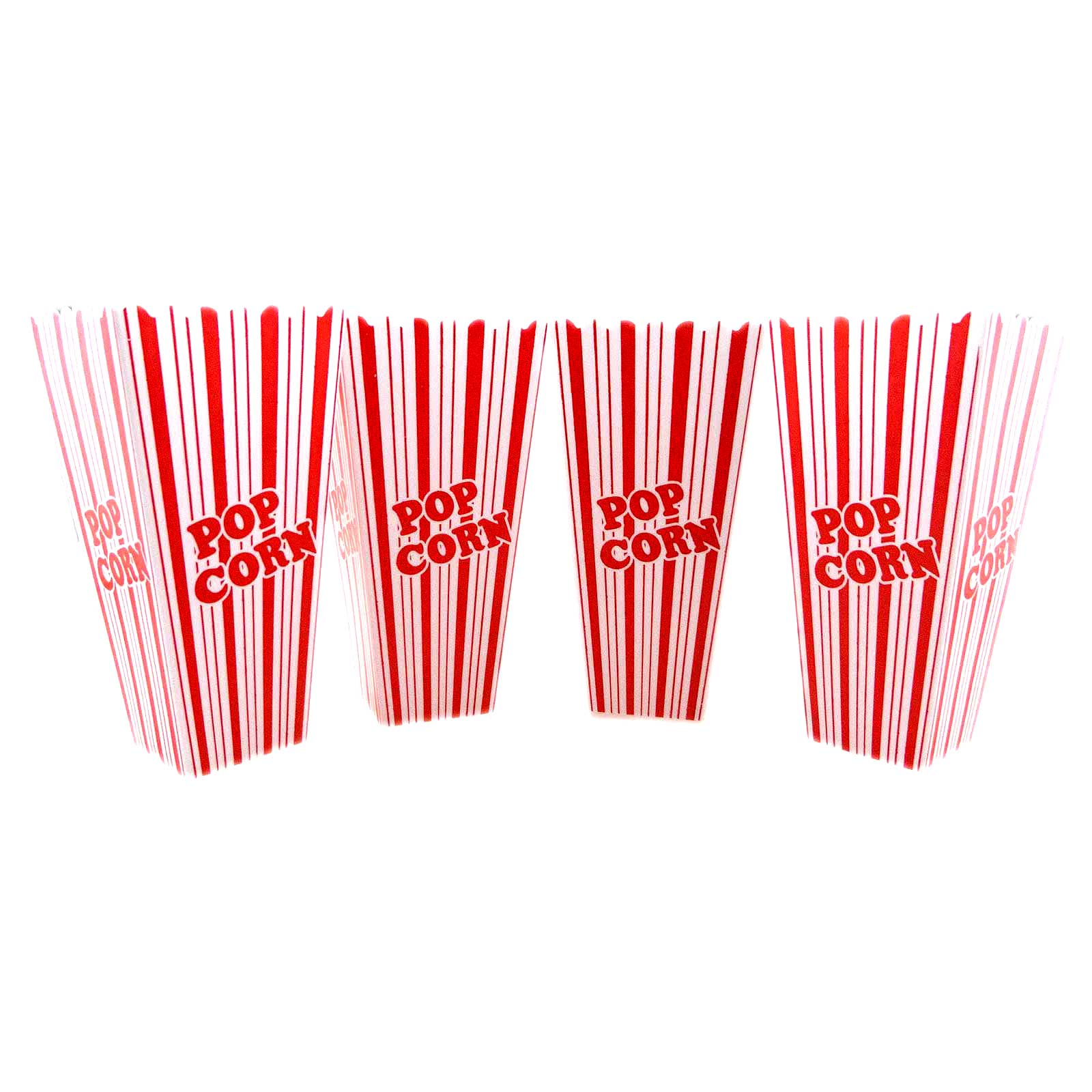 Plastic Popcorn Tub Container Snacks Movie Box Bow Theater