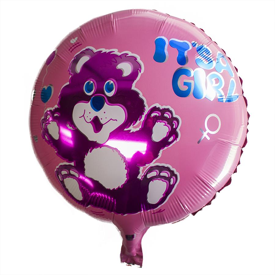 "Helium Balloons Baby Shower: Wholesale 18"" Girl Boy Baby Shower Helium Mylar Foil Round"