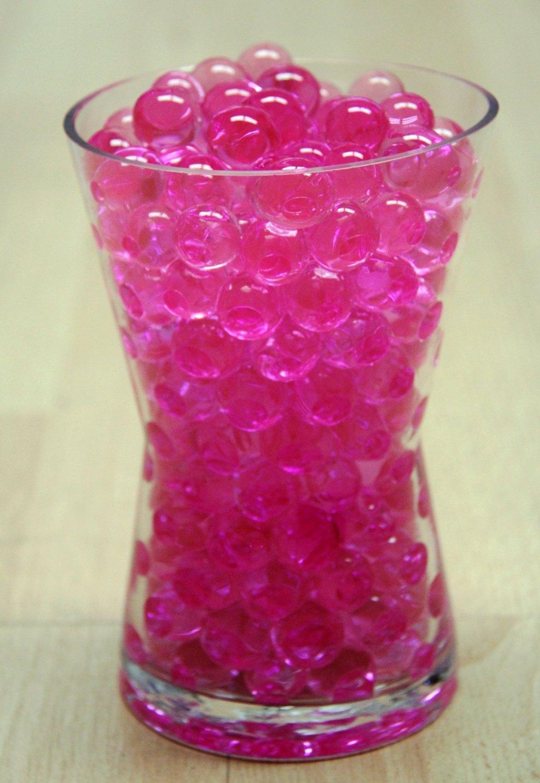 Pink water pearls beads centerpiece wedding tower vase