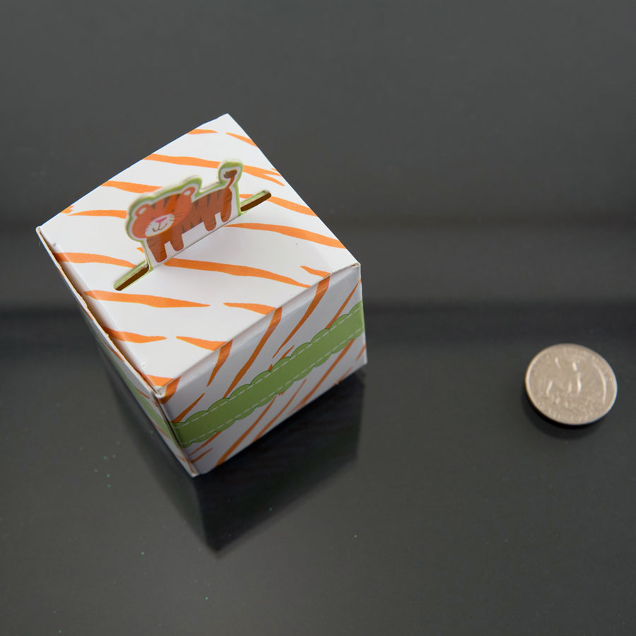 Baby Shower Favor Boxes Uk : Tiger born to be wild jungle baby shower favor candy