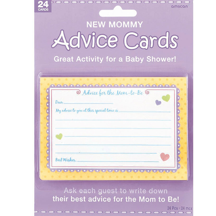 new mommy advice cards 24pc baby shower activity game boy girl favors