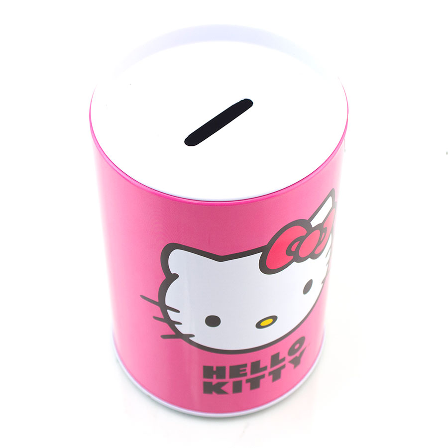 New Hello Kitty Piggy Bank Coin Jewelry Tin Money Jar