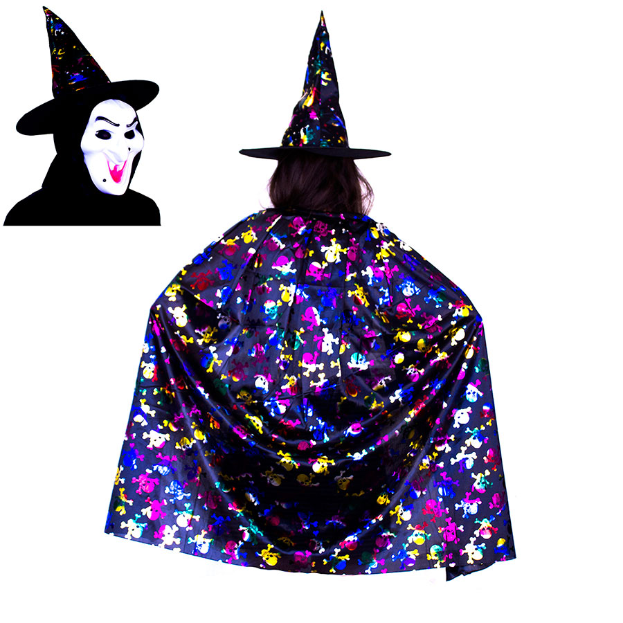 Witch Cape and Hat Metallic Rainbow Halloween Costume  sc 1 st  ifavor123.com & ifavor123.com: Witch Cape and Hat Metallic Rainbow Halloween Costume ...