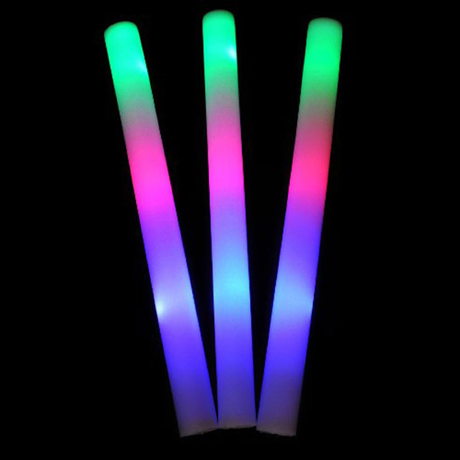 48pk 16 light up foam sticks led multi color changing for Led wands wholesale