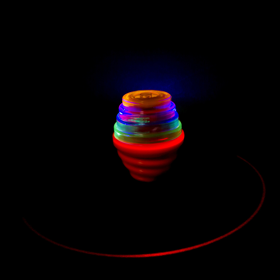 Led music gyro kids top spinner toy