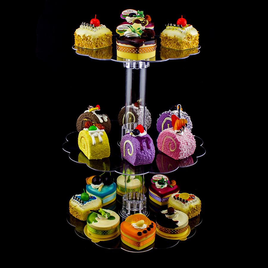 Pk tier clear acrylic cup cake centerpiece stand