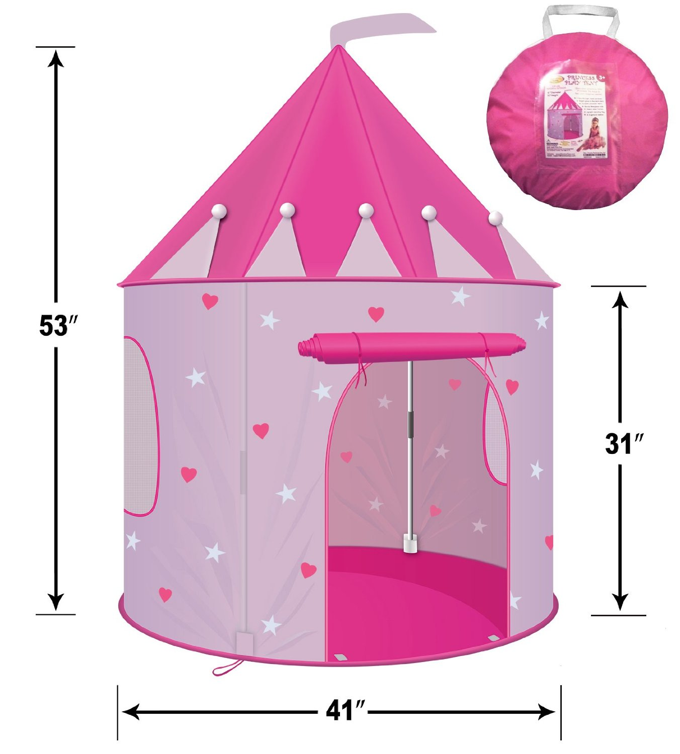 Play Tent Childs Pink Princess Castle Kid Play House Girl Fairy House ...