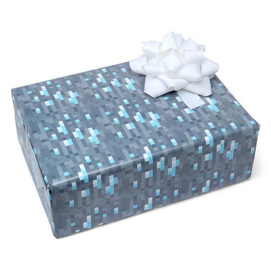 Diamond Ore Wrapping Paper Minecraft Gift Wrap Mine Craft